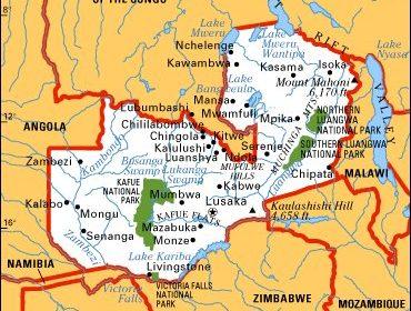 Mapa Zambia